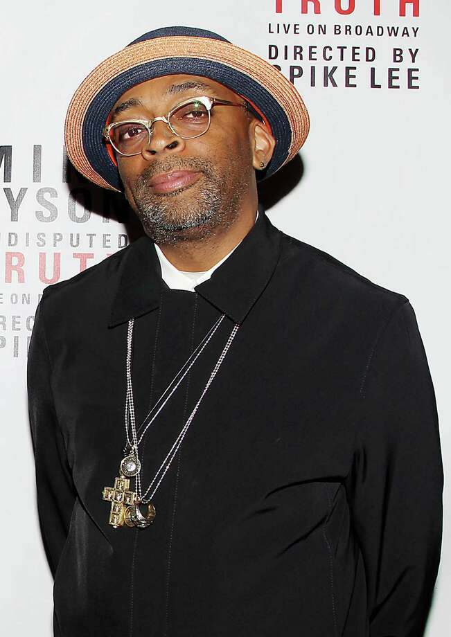 "This image released by Starpix shows director Spike Lee back stage after the curtain call on the opening night of ""Mike Tyson: Undisputed Truth,"" Thursday, Aug. 2, 2012 at the Longacre Theatre in New York. The one man show starring Tyson was directed by Spike Lee, and written by Kiki Tyson. Photo: Amanda Schwab, AP / STARPIX"