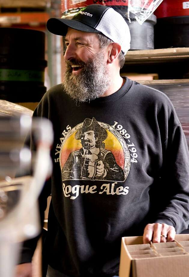 Rogue Ales Brew master John Maier and his beard, which was used to help create a yeast starter for one of Rogue's recent brews, New Crustacean. Photo: Courtesy Rogue Ales