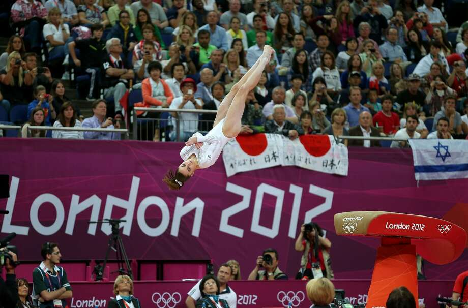 LONDON, ENGLAND - AUGUST 05:  Mc Kayla Maroney of United States competes in the Artistic Gymnastics Women's Vault final on Day 9 of the London 2012 Olympic Games at North Greenwich Arena on August 5, 2012 in London, England.  (Photo by Ezra Shaw/Getty Images) (Ezra Shaw / Getty Images)