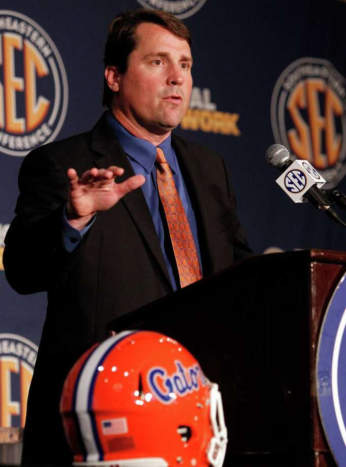 Coach Will Muschamp could be answering lots of questions if his offense doesn't improve from a team that finished 7-6. Butch Dill / Associated Press Photo: Butch Dill, Associated Press / FR111446 AP