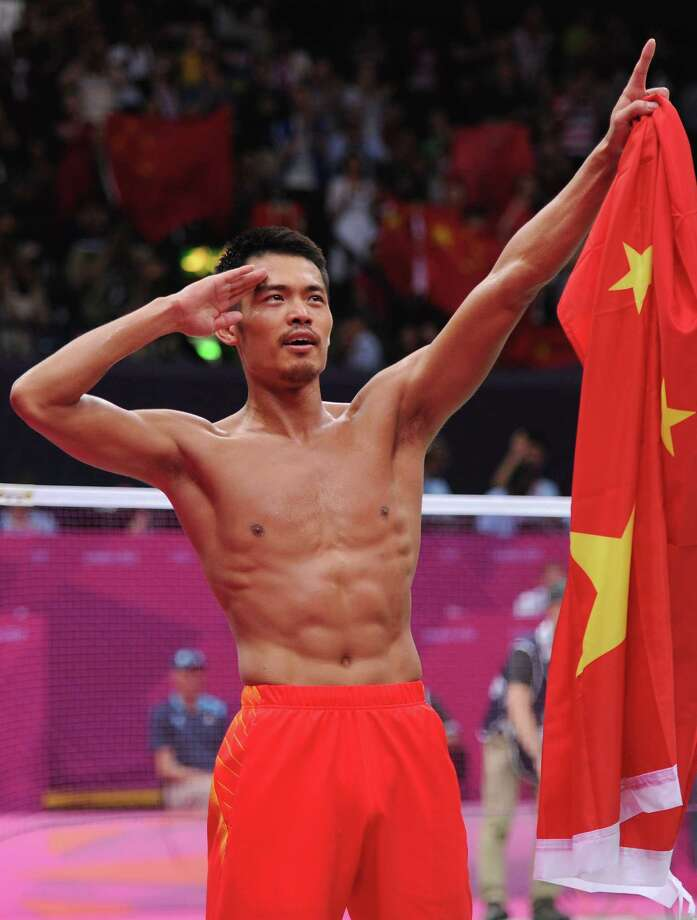 Lin Dan of China celebrates winning his Men's Singles Badminton Gold Medal match against Chong Wei Lee of Malaysia at Wembley Arena in London. Photo: Michael Regan, Getty Images / 2012 Getty Images