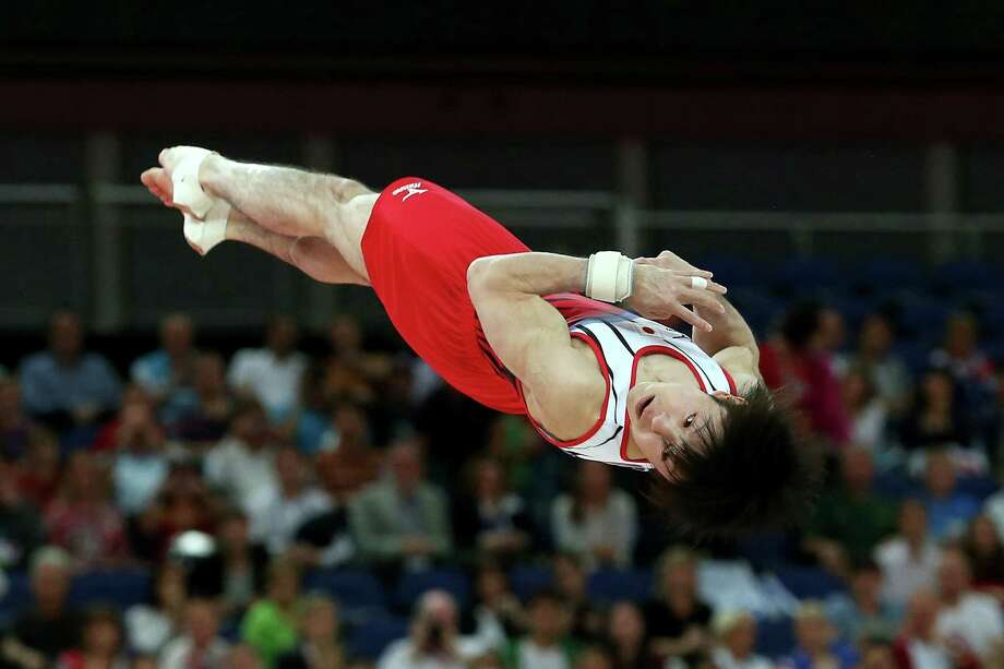 Kohei Uchimura of Japan competes on the floor in the Artistic Gymnastics Men's Floor Exercise final. Photo: Ronald Martinez, Getty Images / 2012 Getty Images