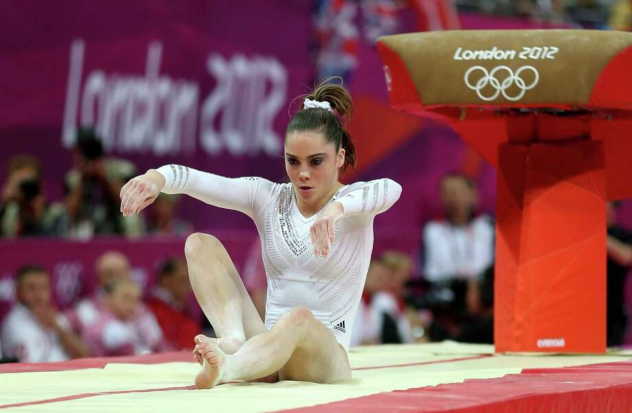 McKayla Maroney of United States fails to land her dismount in the Artistic Gymnastics Women's Vault final. Photo: Quinn Rooney, Getty Images / 2012 Getty Images