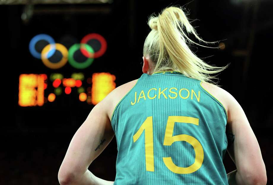 Lauren Jackson #15 of Australia in bounds the ball during the Women's Basketball Preliminary Round match against Canada at the Basketball Arena in London. Photo: Christian Petersen, Getty Images / 2012 Getty Images