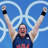 Sarah Robles of the United States competes during the Women's 75kg Weightlifting.