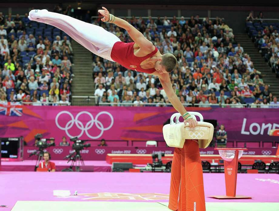 Krisztian Berki of Hungary competes on the horse during the Artistic Gymnastics Men's Pommel Horse Final. Photo: Pascal Le Segretain, Getty Images / 2012 Getty Images