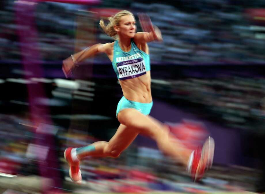 Olga Rypakova of Kazakhstan compete in the Women's Triple Jump final. Photo: Adam Pretty, Getty Images / 2012 Getty Images