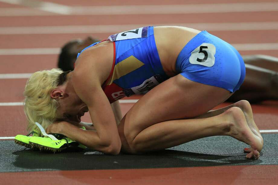 Antonina Krivoshapka of Russia reacts after the Women's 400m final. Photo: Phil Walter, Getty Images / 2012 Getty Images