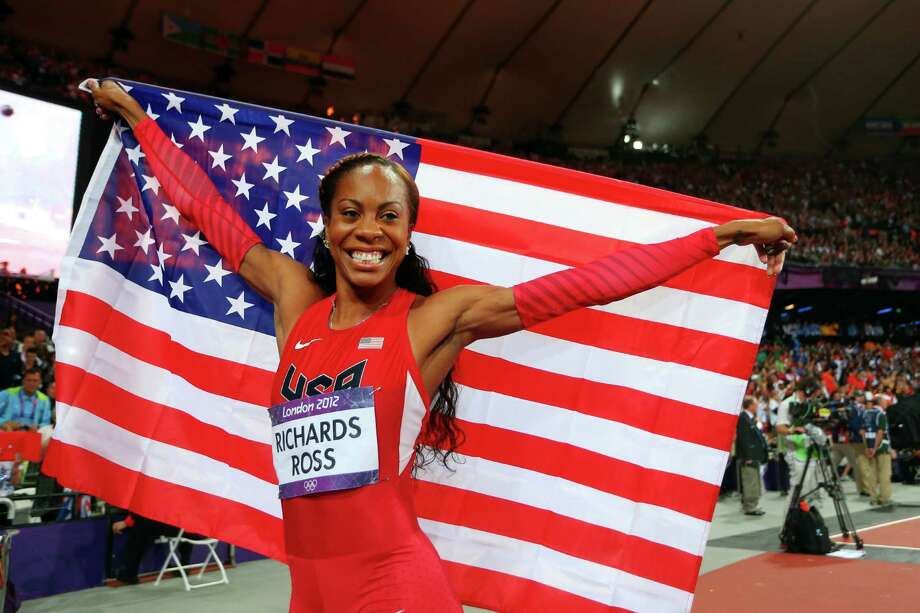 Sanya Richards-Ross of the United States celebrates winning gold in the Women's 400m Final. Photo: Alexander Hassenstein, Getty Images / 2012 Getty Images
