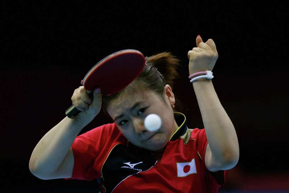 Ai Fukuhara of Japan celebrates during Women's Team Table Tennis semifinal match against team of Singapore. Photo: Feng Li, Getty Images / 2012 Getty Images