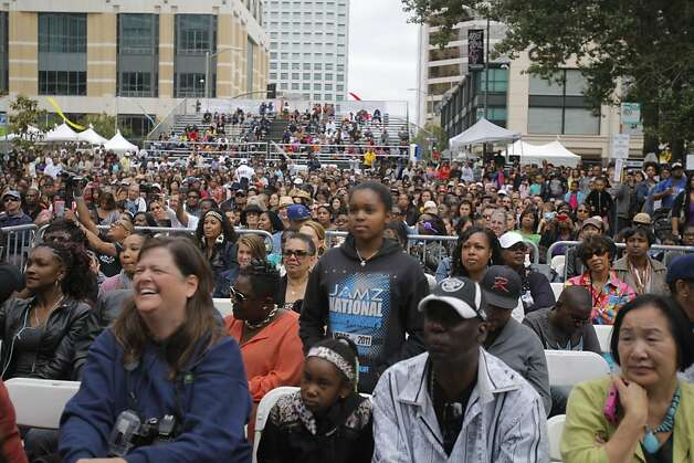 Crowds gathered at the main stage on Sunday, August 5, 2012 to watch Zendaya and the Z-Swag dancers at the Art and Soul Festival in Oakland, Calif. Photo: Megan Farmer, The Chronicle