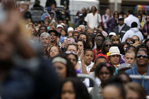 Crowds gather at the main stage of the Art and Soul Festival to watch Zendaya and the Z-Swag dancers on August 5, 2012, in Oakland, Calif. Photo: Megan Farmer, The Chronicle