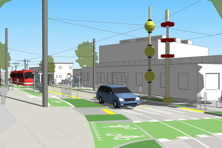An illustration of a future streetcar stop at Broadway and Yesler Way. Photo: City Of Seattle