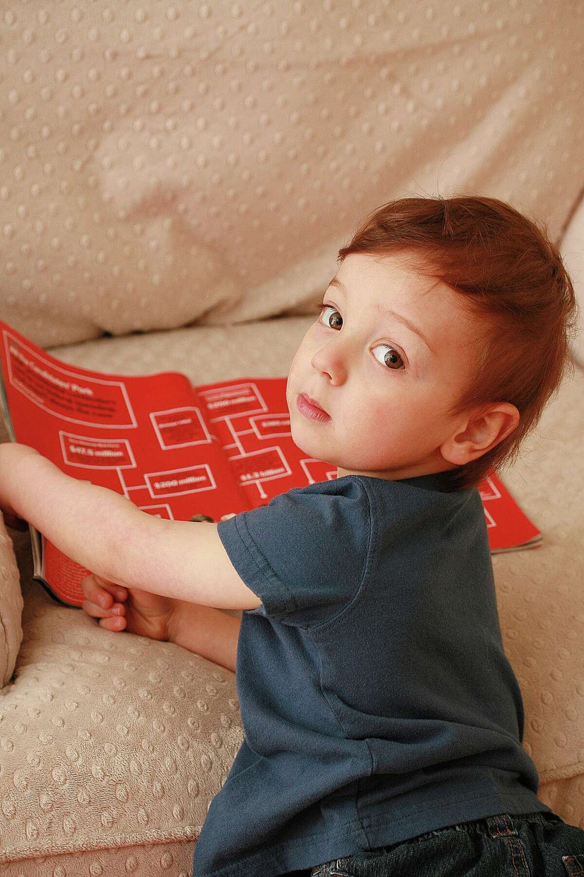 Christopher Salvaggio, 3, has an IQ of 145.