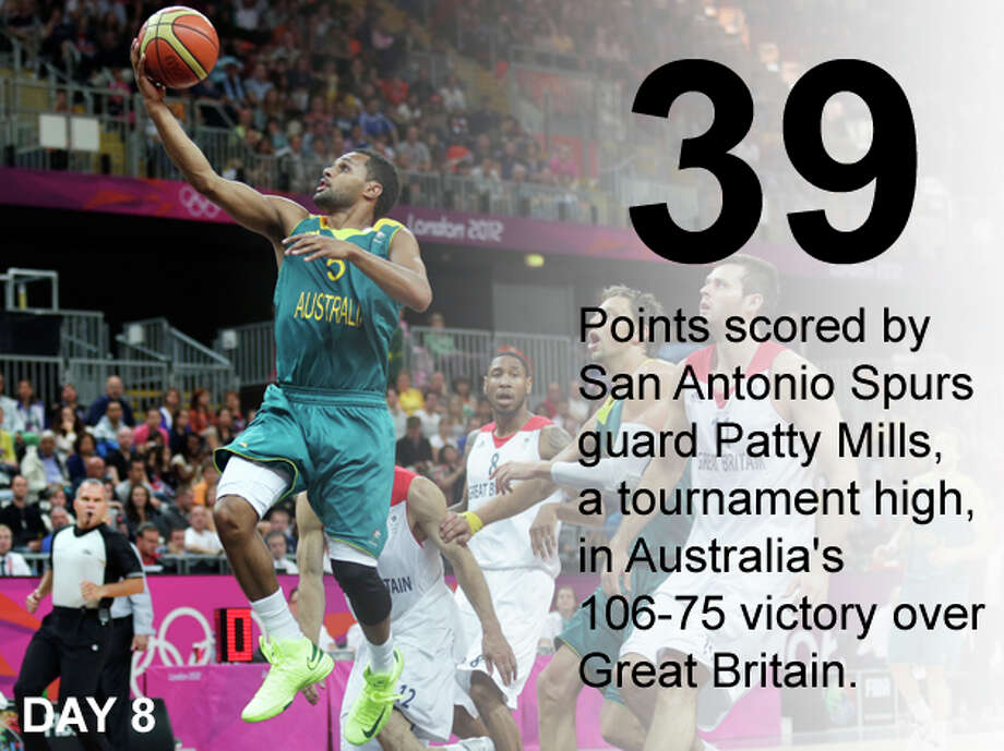 Australia's Patrick Mills, left, drives to the basket against Britain during a men's basketball game at the 2012 Summer Olympics, Saturday, Aug. 4, 2012, in London. Photo: Charles Krupa / Associated Press; San Antonio Express-News Photo Illustration / AP