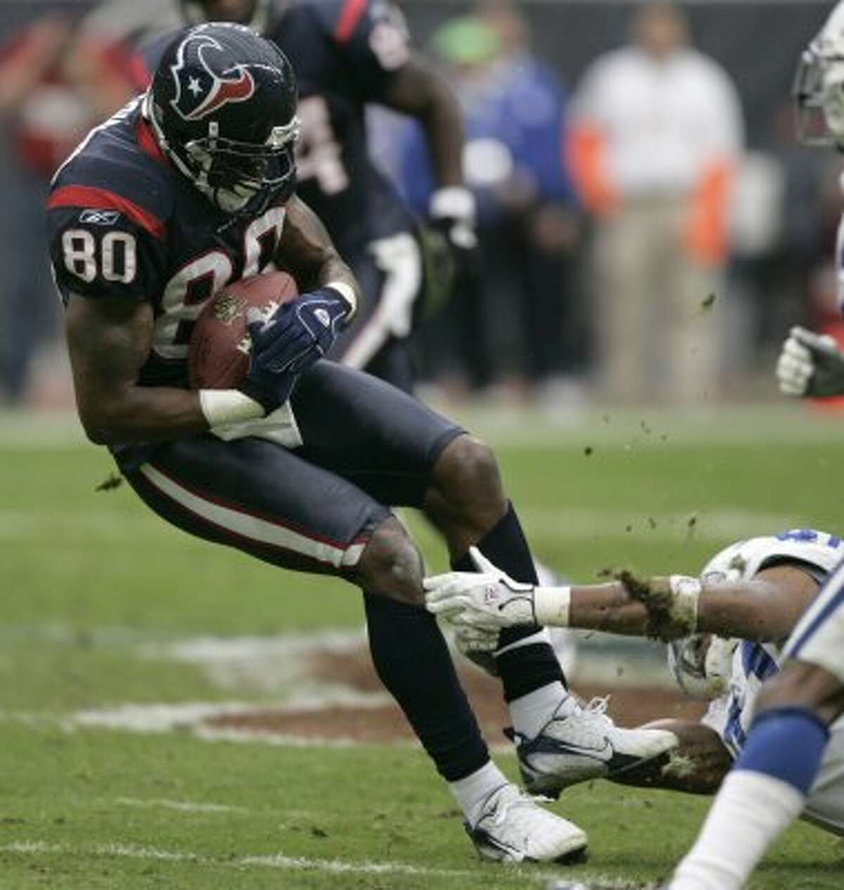18. David topples Goliath Led by quarterback Peyton Manning, the Colts were the class of the AFC South division for just over the first half of the 21st Century. But the Texans finally broke through on Christmas Eve 2006 when a 48-yard Kris Brown field goal with three seconds left secured a 27-24 win.