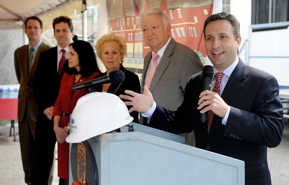 In this file photo State Sen. Bob Duff speaks during a groundbreaking ceremony for the Norwalk Fire Station and ECOC on April 10, 2012. Photo: Lindsay Niegelberg / Stamford Advocate