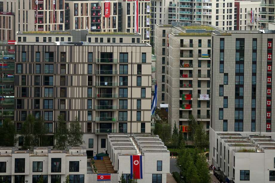 LONDON, ENGLAND - JULY 27:  General view of the Olympic village prior to the Opening Ceremony of the London 2012 Olympic Games at the Olympic Stadium on July 27, 2012 in London, England.  (Photo by Alexander Hassenstein/Getty Images) (Alexander Hassenstein / Getty Images)