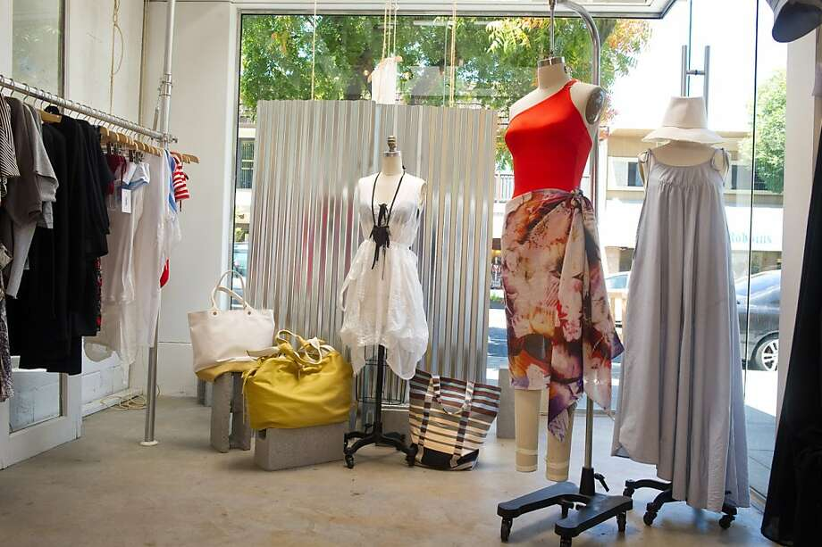 Malia Mills, a swimwear and ready-to-wear boutique, opened in July in Los Altos. Mills designs bathing suits that are suitable for women sizes 2-16, and cup sizes up to DD and E. The luxe swimwear is made of Lycra and nylon, and runs up to $425 per bathing suit. Scarves, blouses, coverups and sweaters are also available at the shop. Photo: Jessica Lifland, Jessica Brandi Lifland