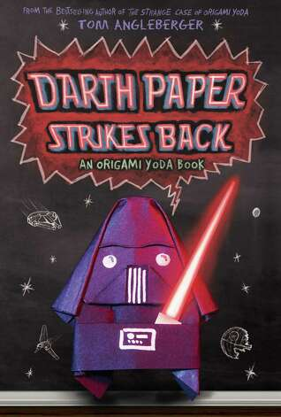 "Cover to ""Darth Paper Strikes Back"" by Tom Angleberger, the second book in his Origami Yoda series. Photo: Handout"