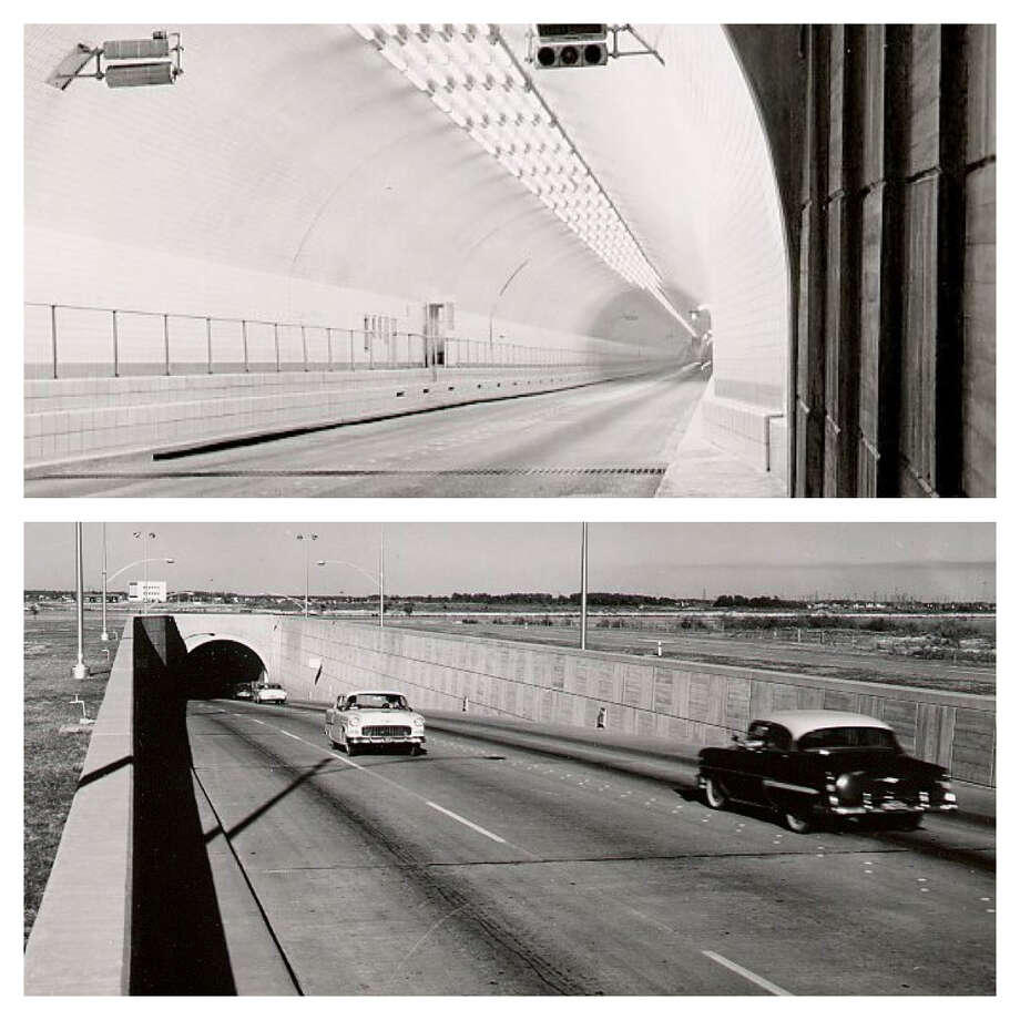 Historic photos of the Baytown-La Porte Tunnel under the Houston Ship Channel. The tunnel was replaced by the Fred Hartman Bridge in the 90s. Photos from TexasFreeway.com Photo: The Enterprise