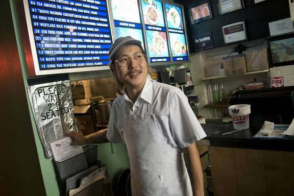 Chef Danny Bowien is photographed at his restaurant, Mission Chinese, at its New York City location on the Lower East Side of Manhattan on Tuesday, July 31, 2012 in New York, NY.