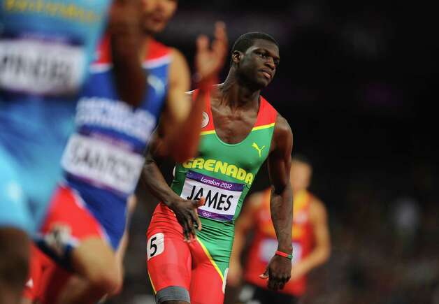 LONDON, ENGLAND - AUGUST 06:  Kirani James of Grenada competes in the Men's 400m final on Day 10 of the London 2012 Olympic Games at the Olympic Stadium on August 6, 2012 in London, England. Photo: Mike Hewitt, Getty Images / 2012 Getty Images