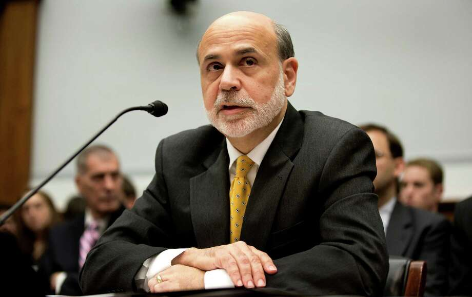 Ben S. Bernanke, chairman of the U.S. Federal Reserve, delivers his semiannual monetary policy report to the House Financial Services Committee in Washington, D.C., U.S., on Wednesday, July 18, 2012. Treasuries  remained higher as Bernanke reiterated during his second day of testimony to Congress that the U.S. fiscal situation is ìunsustainable,î stoking demand for the securities. Photographer: Joshua Roberts/Bloomberg *** Local Caption *** Ben S. Bernanke Photo: Joshua Roberts, Bloomberg / Copyright 2012 Bloomberg Finance LP
