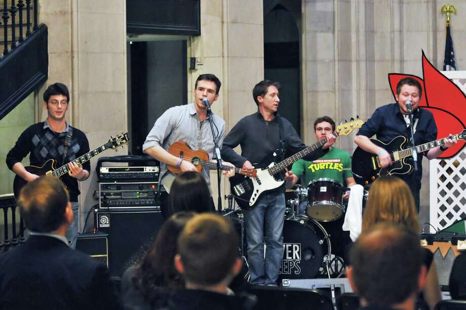 The City Never Sleeps performs at a news conference to announce details of the 2012 Albany Tulip Festival at Albany City Hall Tuesday April  10, 2012.   (John Carl D'Annibale / Times Union archive) Photo: John Carl D'Annibale / 00017111A