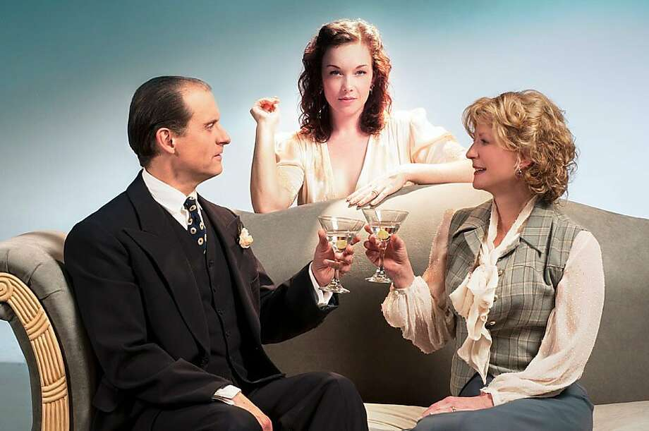 """Blithe Spirit"" cast Anthony Fusco (left), Jessica Kitchens and René Augesen have connections to American Conservatory Theater: It's ""like ACT in the East Bay,"" says Kitchens. Photo: Kevin Berne., Cal Shakespeare"