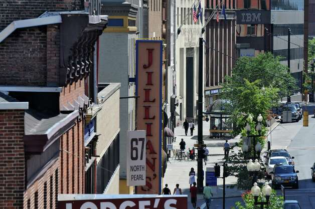 View of Jillian's, which is closing, on North Pearl Street on Monday Aug. 6, 2012 in Albany, NY.   (Philip Kamrass / Times Union) Photo: Philip Kamrass / 00018741A