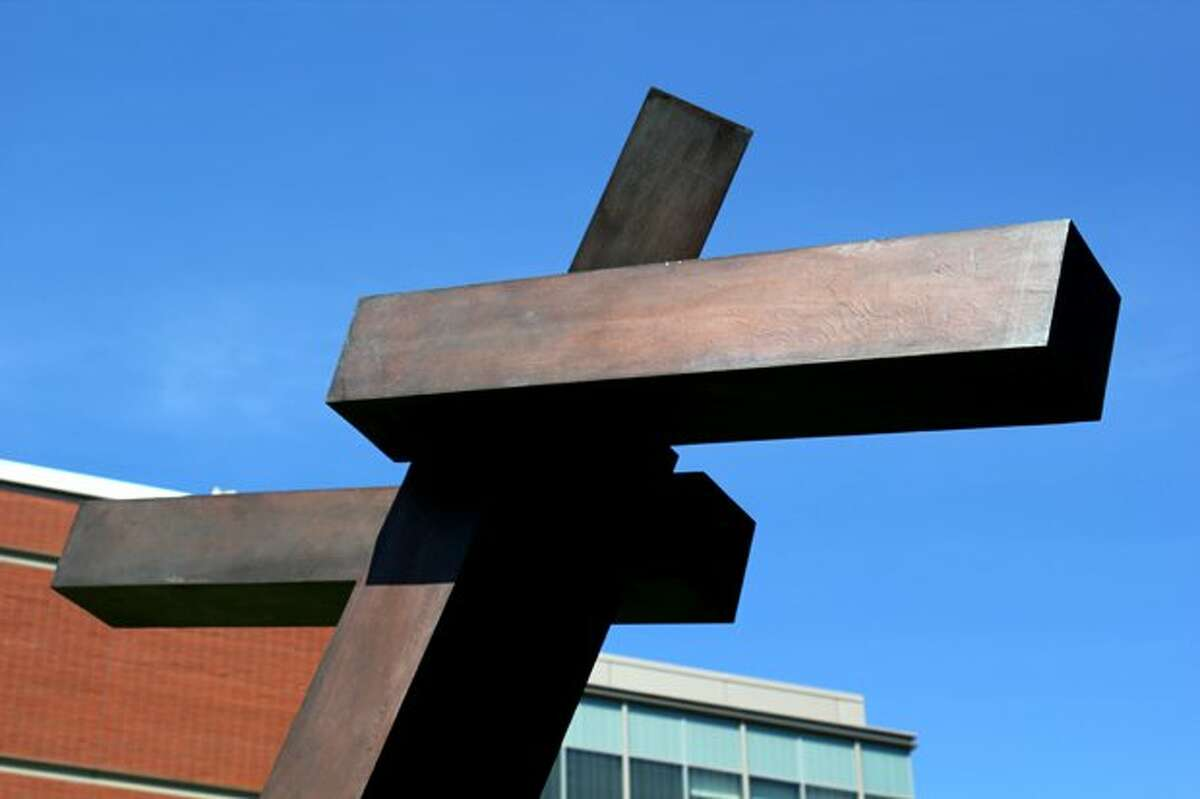 No college campus is complete without a friendly abstract sculpture. (Rachel Reed / SEATTLEPI.COM)