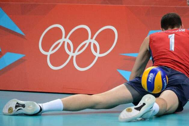 Bad place to fall in volleyball.  (Getty)