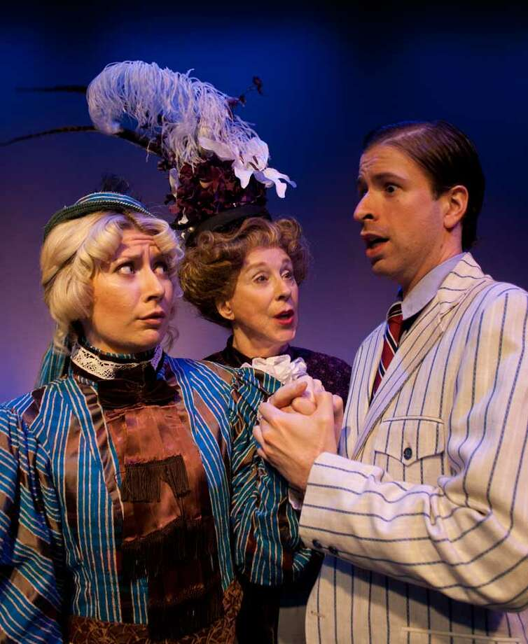 "Christina Casella (from left), Jo Grabow and Rusty Thurman appear in Classic Theatre's ""The Importance of Being Earnest."" Photo: Courtesy, Dwayne Green"