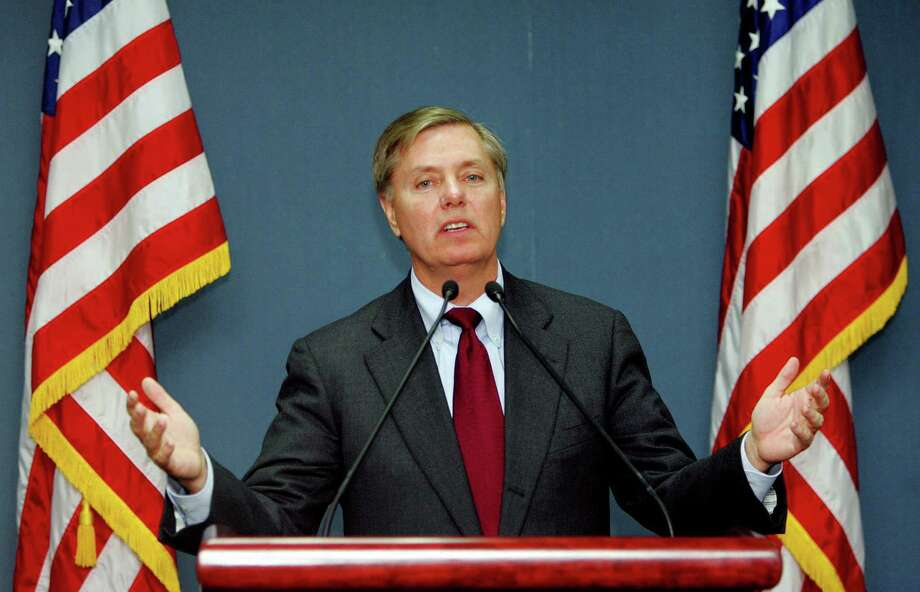 Sen. Lindsey Graham, R-S.C., hit the bull's-eye in a speech to the American Bar Association last week, saying he is worried that politics in the Senate are threateneing an independent federal judiciary. Photo: File Photo, Associated Press / AP