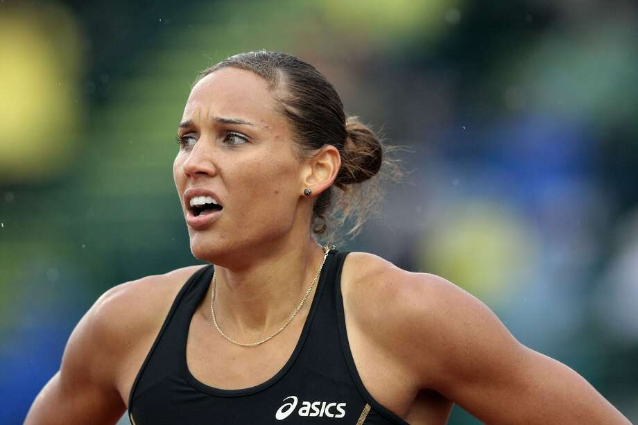 Lolo Jones looks on after competing in a preliminary round of women's 100 meter hurdles during Day One of the 2012 U.S. Olympic Track & Field Team Trials at Hayward Field on June 22, 2012, in Eugene, Ore.  (Photo by Christian Petersen/Getty Images) (Christian Petersen / Getty Images)
