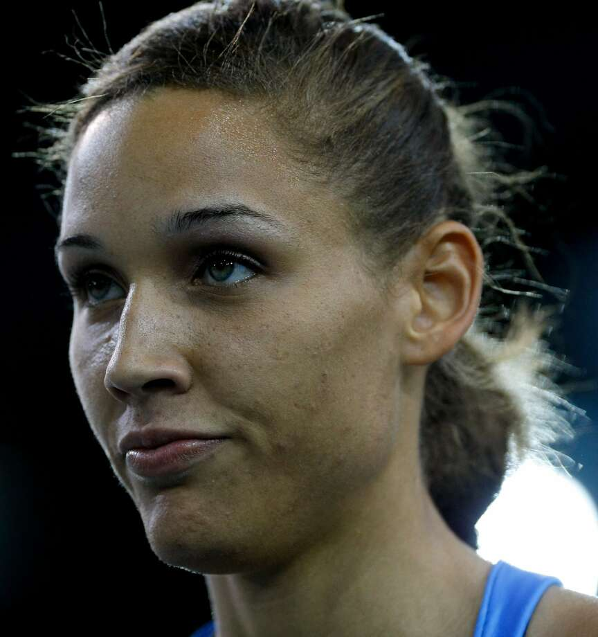 Lolo Jones of USA looks on after winning the Women's 60 Metres Hurdles during the Aviva International Match at Kelvin Hall on Jan. 31, 2009, in Glasgow, Scotland.  (Photo by Stu Forster/Getty Images) (Stu Forster / Getty Images)