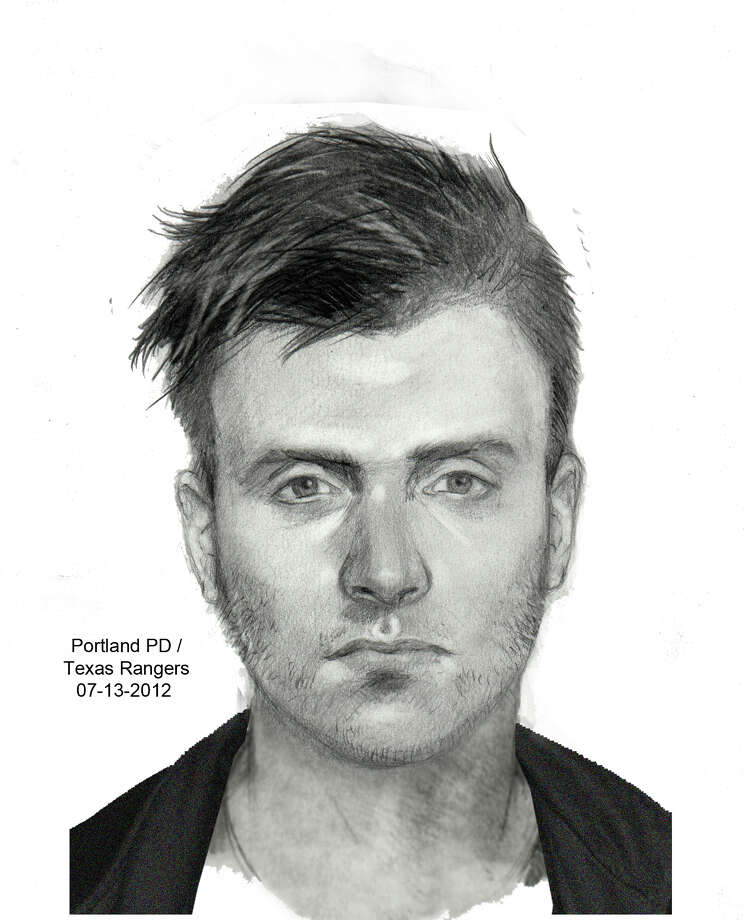 This sketch of the man who shot two young women in June near Corpus Christi is based upon a description by one of the victims. (Portland Police Department) Photo: Portland Police Department
