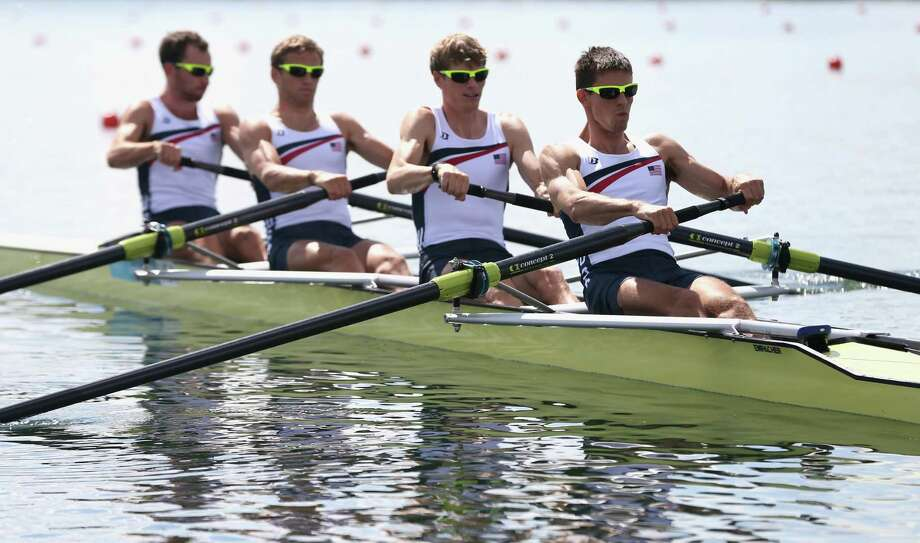 The first day of competition in the men's lightweight four spelled a  low point for Lacava, second from right, and his crew. They finished dead last in their heat but would turn things around the next day. Photo: Streeter Lecka, Getty Images / 2012 Getty Images