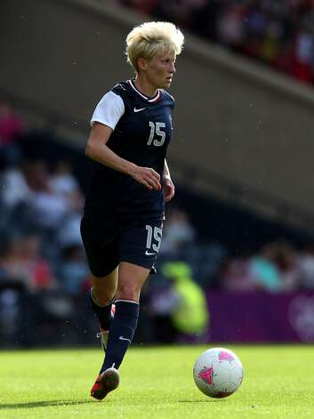 GLASGOW, SCOTLAND - JULY 25: Megan Rapinoe of USA in action during the Women's Football first round Group G Match of the London 2012 Olympic Games between United States and France, at Hampden Park on July 25, 2012 in Glasgow, Scotland.  (Photo by Stanley Chou/Getty Images) (Stanley Chou / Getty Images)