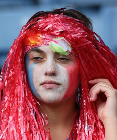 GLASGOW, SCOTLAND - JULY 28:  A fan shows support during the Women's Football first round Group G match between United States and Colombia on Day 1 of the London 2012 Olympic Games at Hampden Park on July 28, 2012 in Glasgow, Scotland.  (Photo by Stanley Chou/Getty Images) (Stanley Chou / Getty Images)