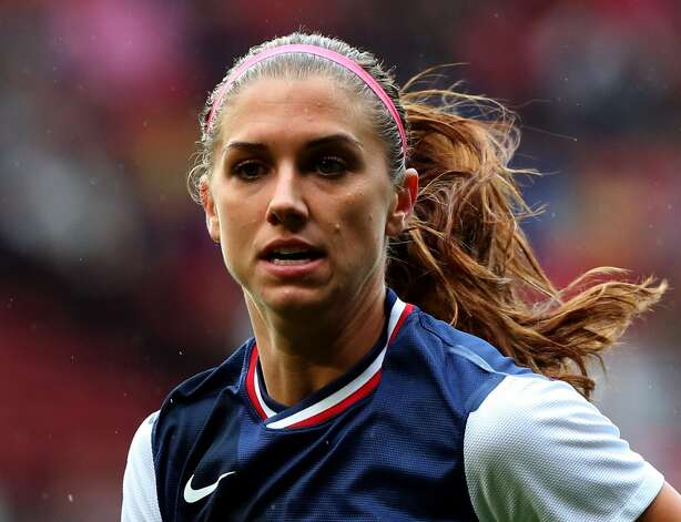 MANCHESTER, ENGLAND - JULY 31:  Alex Morgan of USA during the Women's Football first round Group G match between the United States and DPR Korea on Day 4 of the London 2012 Olympic Games at Old Trafford on July 31, 2012 in Manchester, England.  (Photo by Stanley Chou/Getty Images) (Stanley Chou / Getty Images)