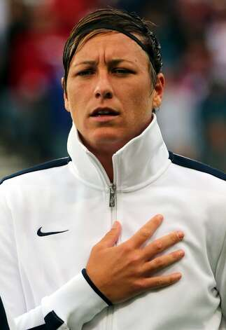 MANCHESTER, ENGLAND - JULY 31:  Abby Wambach of USA during the Women's Football first round Group G match between the United States and DPR Korea on Day 4 of the London 2012 Olympic Games at Old Trafford on July 31, 2012 in Manchester, England.  (Photo by Stanley Chou/Getty Images) (Stanley Chou / Getty Images)