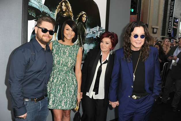 Jack (left), Lisa, Sharon and Ozzy Osbourne in Hollywood. Sharon Osbourne says NBC discriminated against her son, Jack. Photo: Kevin Winter, Getty Images