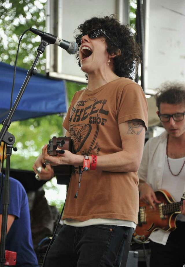 CHICAGO, IL - AUGUST 04:  L.P. aka Laura Pergolizzi performs during 2012 Lollapalooza at Grant Park on August 4, 2012 in Chicago, Illinois. Photo: Theo Wargo, Getty Images / 2012 Getty Images