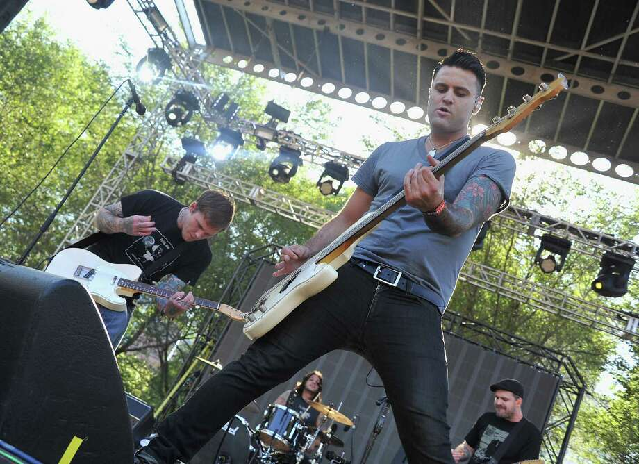 CHICAGO, IL - AUGUST 05:  Brian Fallon and Alex Levine of Gaslight Anthem perform during 2012 Lollapalooza at Grant Park on August 5, 2012 in Chicago, Illinois. Photo: Theo Wargo, Getty Images / 2012 Getty Images