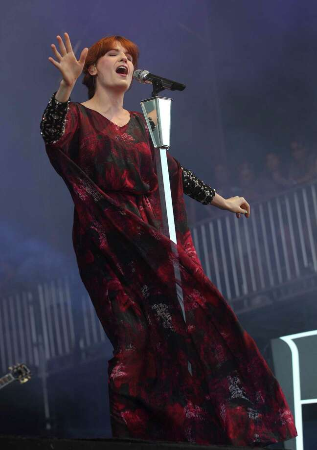Florence Welch of Florence and the Machine performs at the Lollapalooza festival in Chicago's Grant Park on Sunday, Aug. 5, 2012. (Photo by Steve C. Mitchell/Invision/AP) Photo: STEVE MITCHELL/INVISION/AP