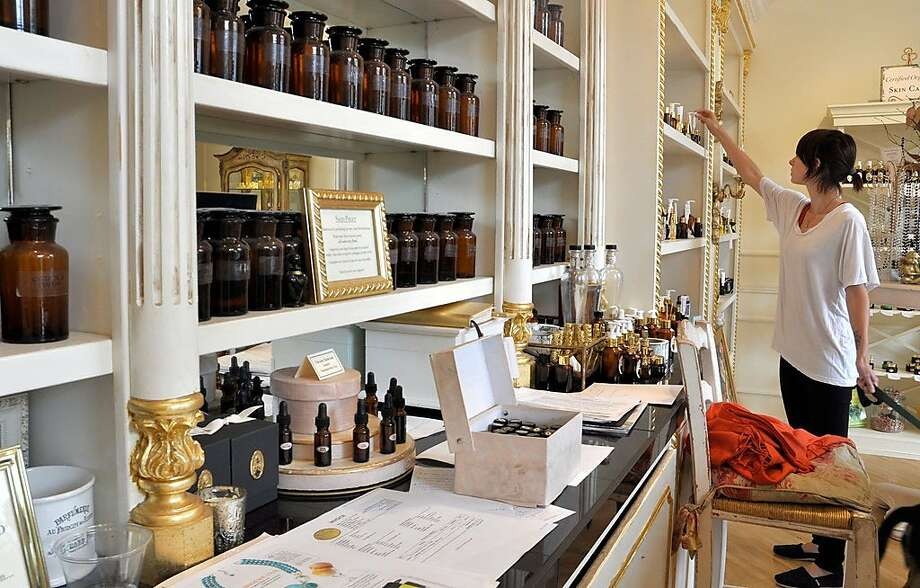 At Ajne Parfumerie Apothecary, patrons can create their own scents customized to their unique chemistry. Photo: Christine Delsol, Special To SFGate