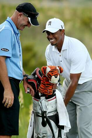 """There are so many guys with a chance to win"" a major, Tiger Woods said. Photo: Andrew Redington, Getty Images"