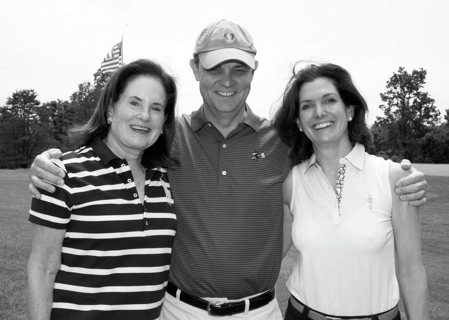 The ONS Foundation for Clinical Research and Education recently held its annual golf outing. Enjoying the successful event were co-chairs Vicki Leeds Tananbaum and Dr. Michael Clain, along with Dr. Debra Pruzan, of Greenwich. Also co-chairing the event was Brian Matthews, not pictured. Photo: Contributed Photo